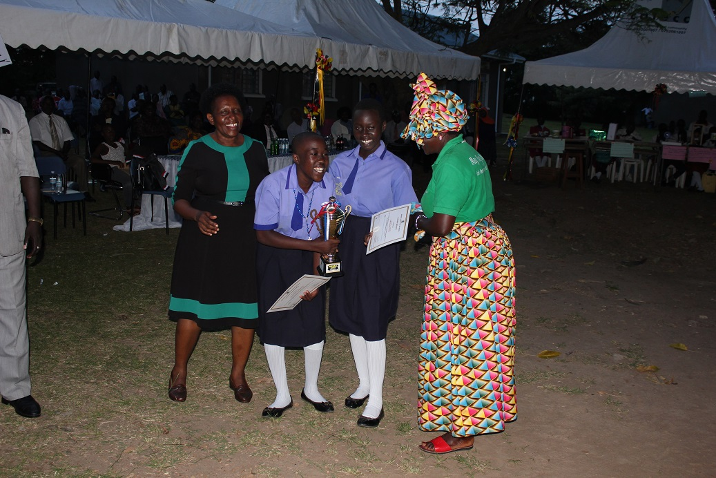 Gracious Ayiorwoth and Sumaya Akunda of St Marys Ediofe Girls S.S Arua were the best in the Physics category with their solar heater project 2