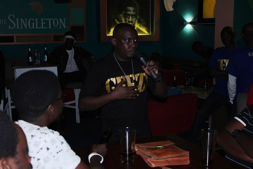 Lyrical G fielding questions from the media at the media album listening party