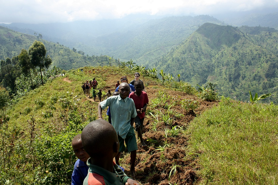 Walking distances through the mountain terrain is cited as one of the reasons pupils in Bududa underperfrom